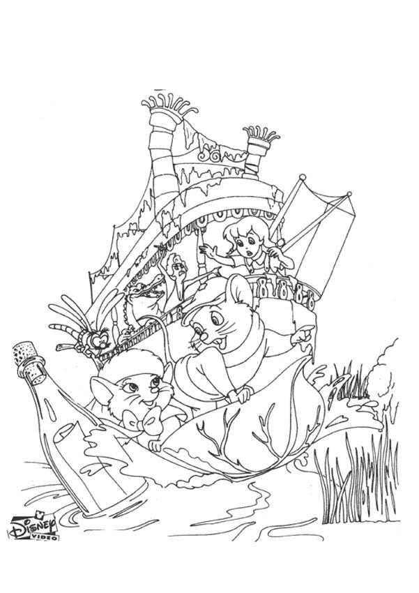 The Rescuers coloring pages for kids