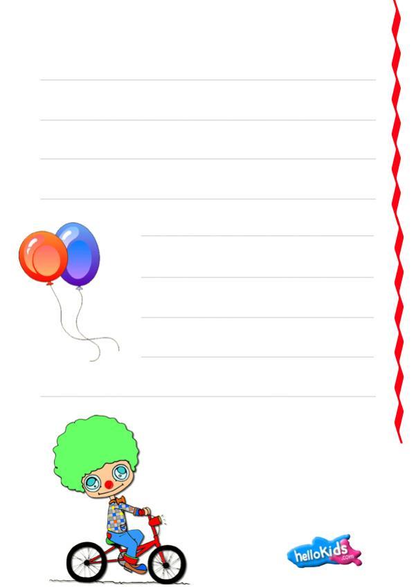 Clown writing activities