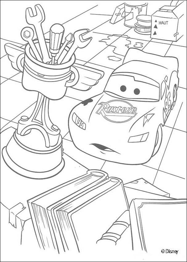 Lightning mc queen coloring pages