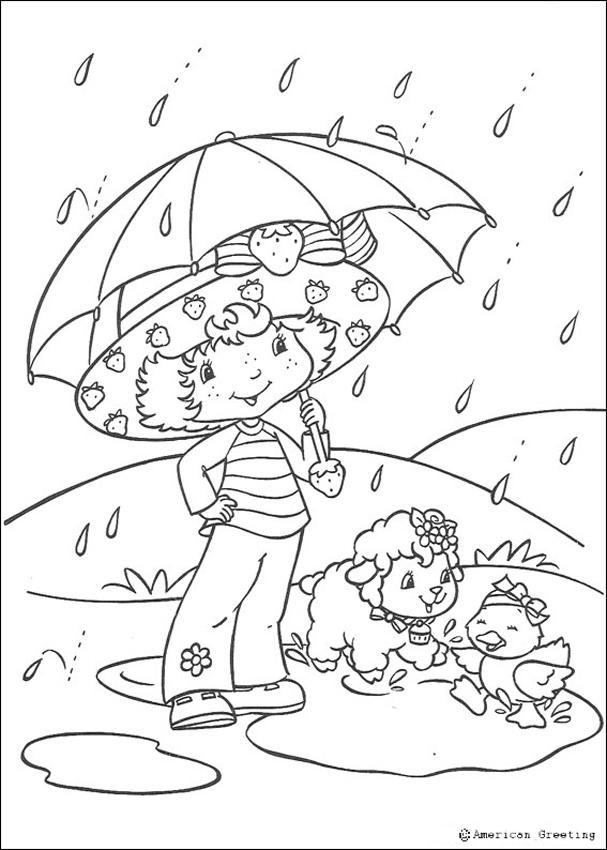 Strawberry Shortcake, Marsh Mallard and Vanilla Icing coloring page