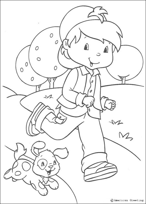 Huckleberry Pie and Sweet Dog coloring page