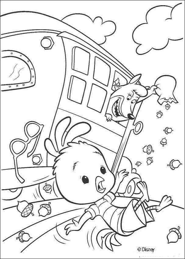 Chicken Little Ugly Duckling Coloring Page