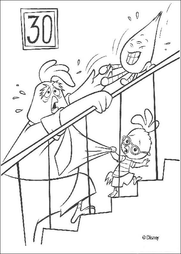 Chicken little to the rescue coloring pages Hellokidscom