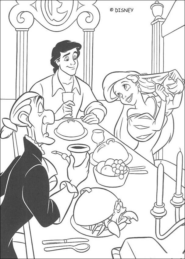 Dinner with the prince coloring page
