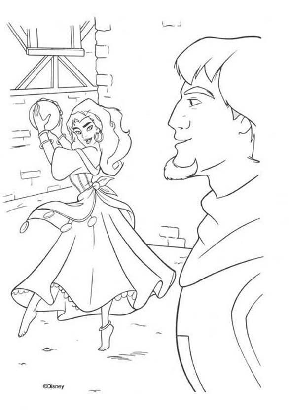 Esmeralda and phoebus 1 coloring