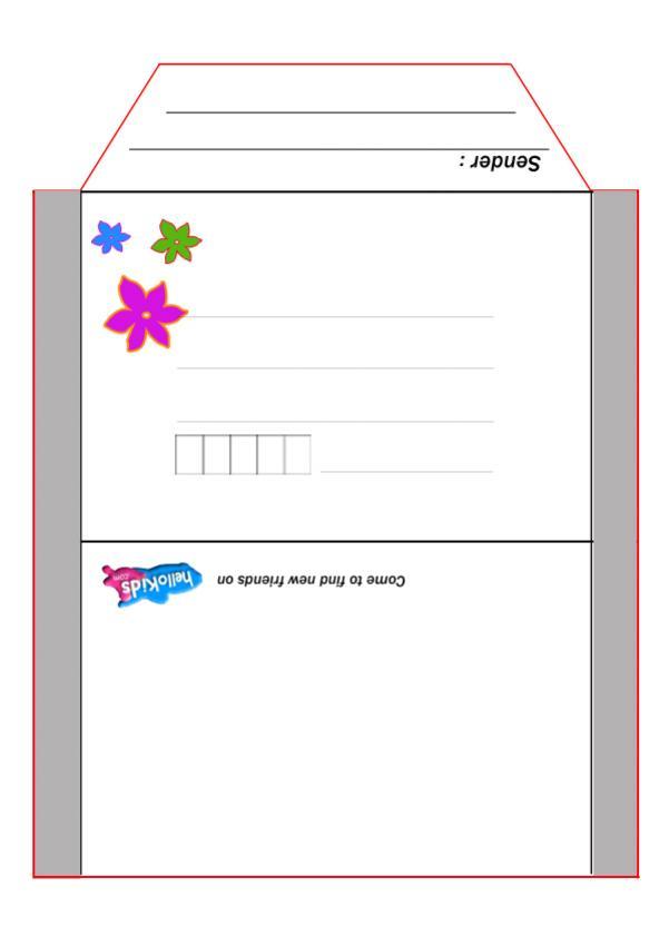 Flowers envelope