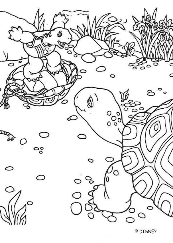 Franklin with his mom coloring page