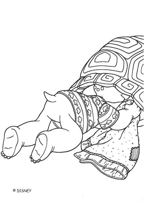 Franklin and his Mom coloring page