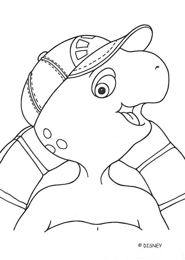 Smiling Franklin coloring page