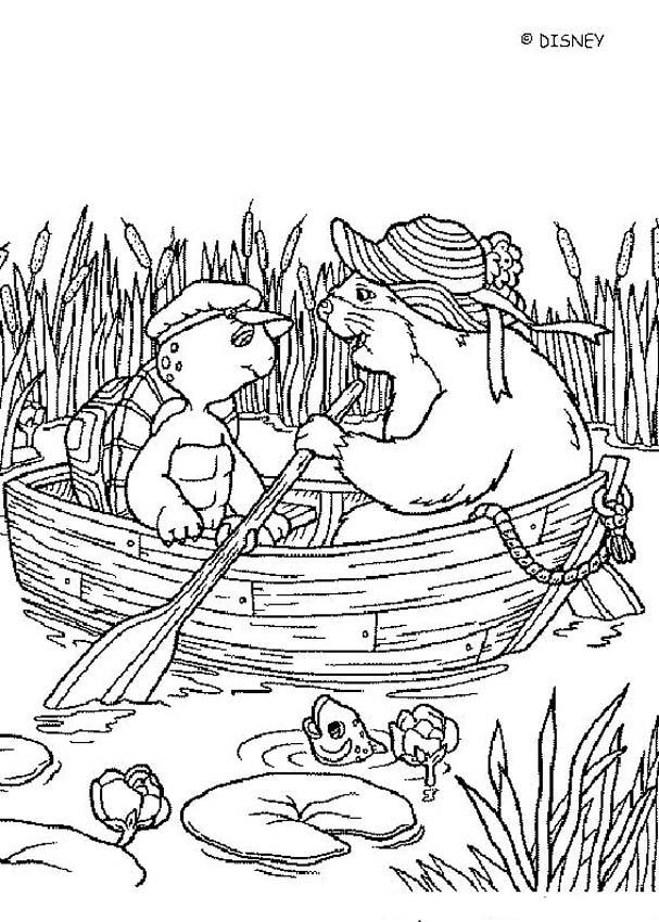 BEAVER and FRANKLIN coloring page