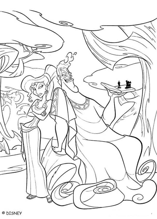 Zeus And Hera Coloring Page