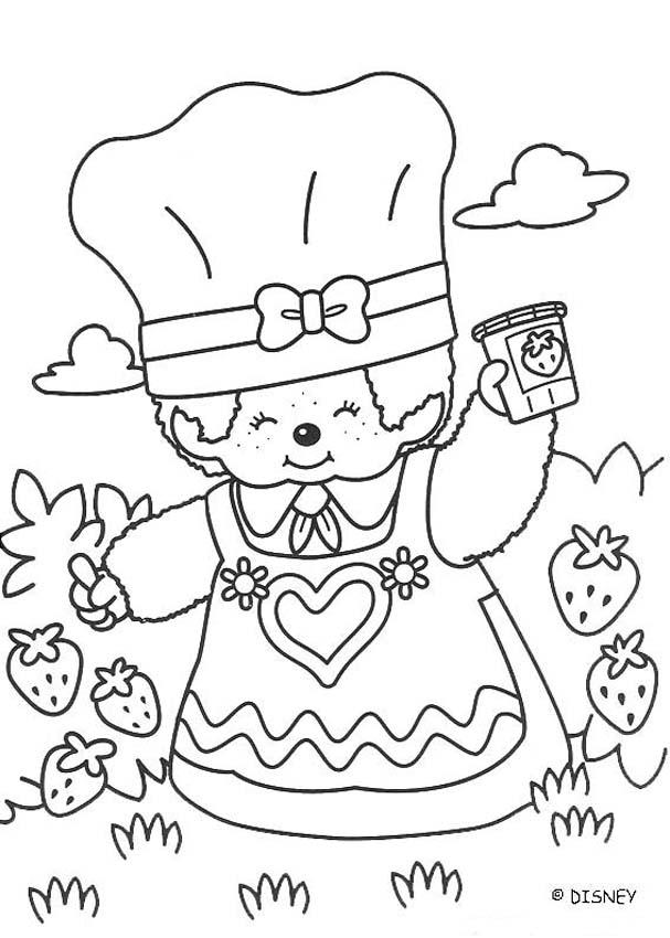 Monchhichi Strawberry Jam coloring page