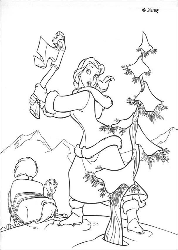 Belle and Axe coloring page