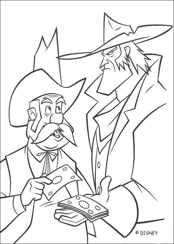 Sheriff Sam Brown and Ricco coloring page