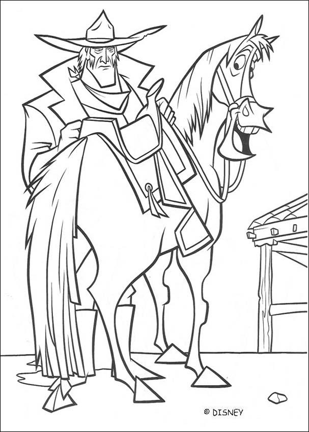 Ricco and Buck coloring page