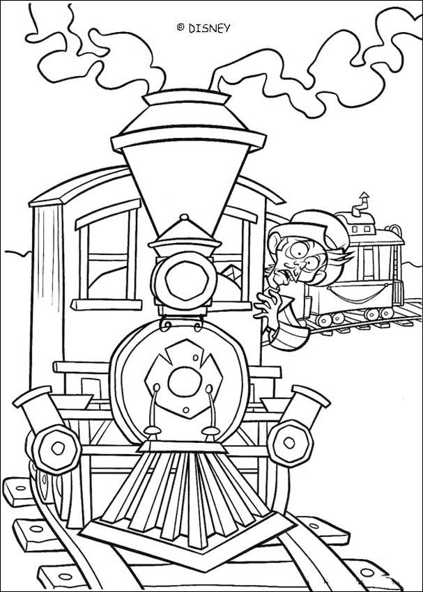 Mr Wesley On Train Coloring Pages Hellokids Com
