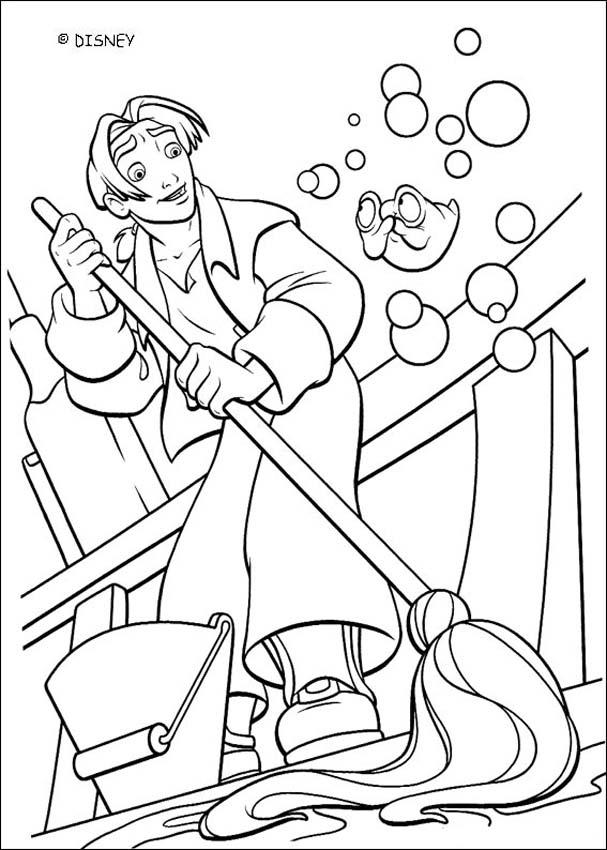Swabbing The Deck Coloring Pages Hellokids Com
