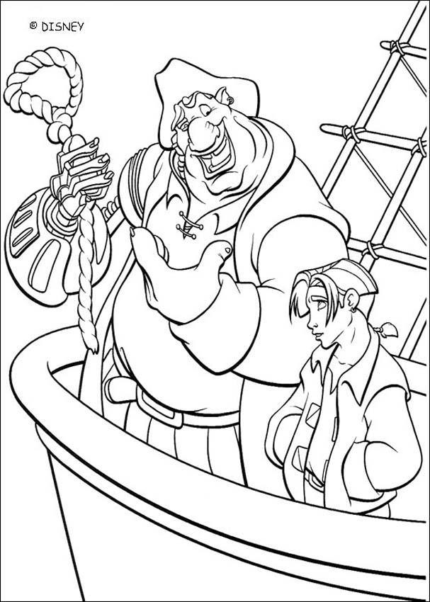 john silver and jim hawkins coloring page