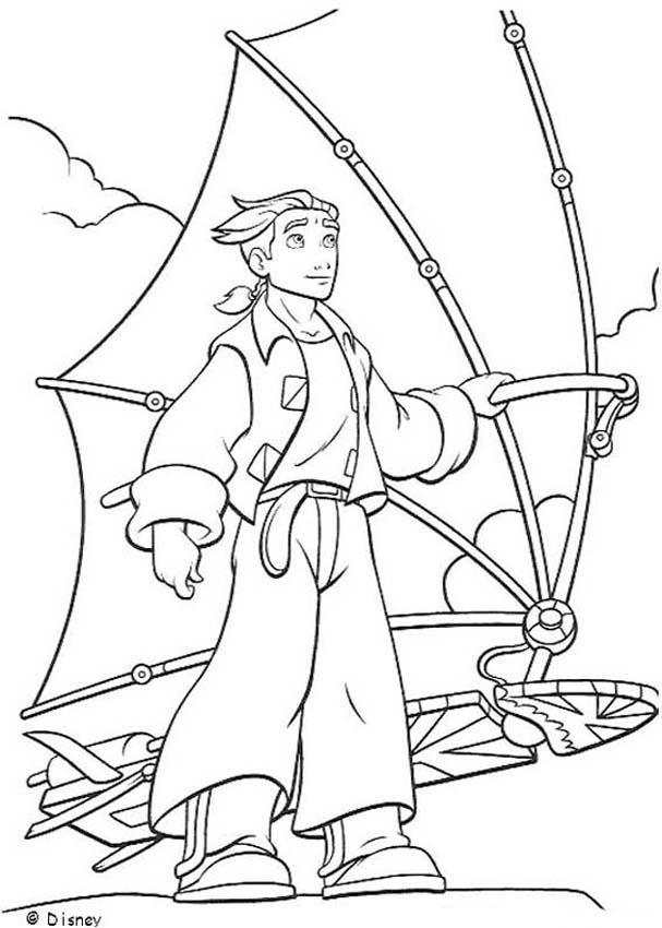 Treasure planet 3 coloring pages Hellokidscom