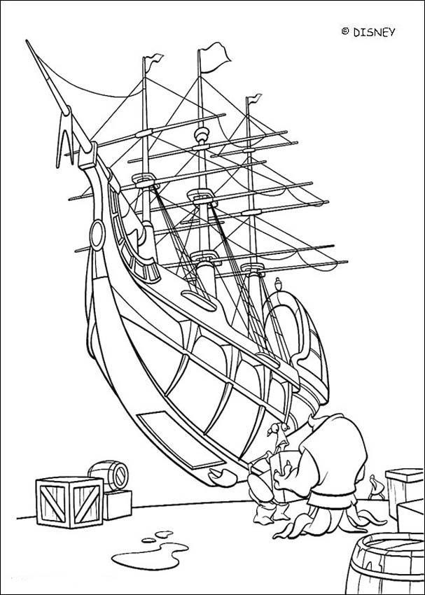 treasure planet ship coloring page