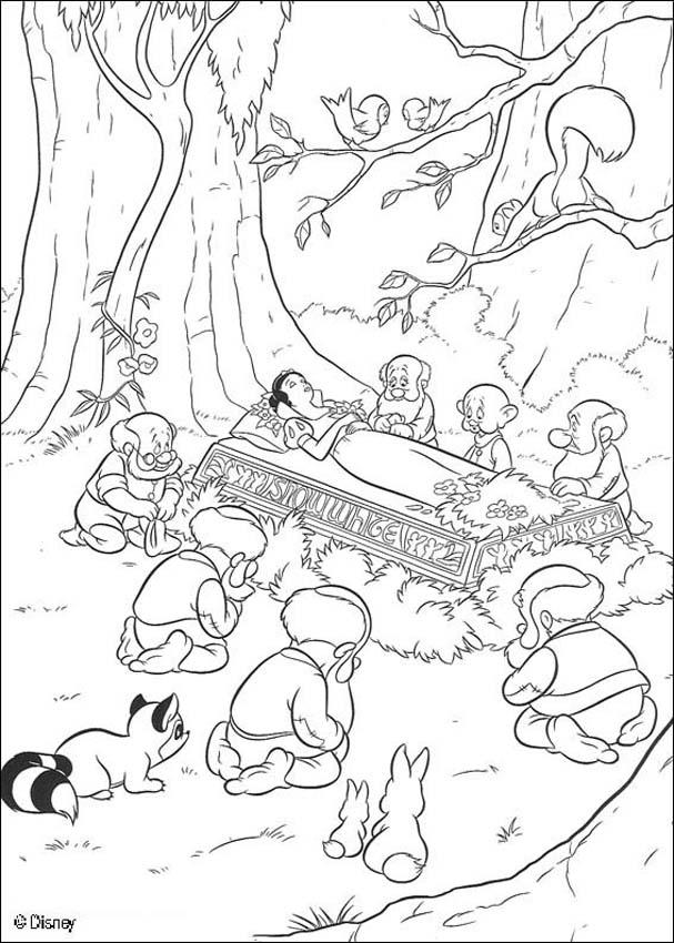 Snow White is dead coloring page