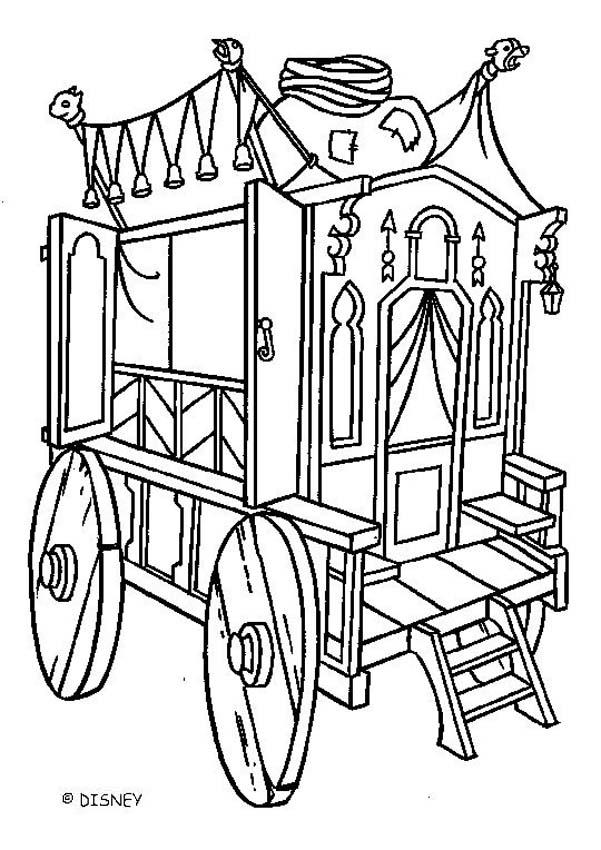 Hunchback carriage coloring pages Hellokidscom