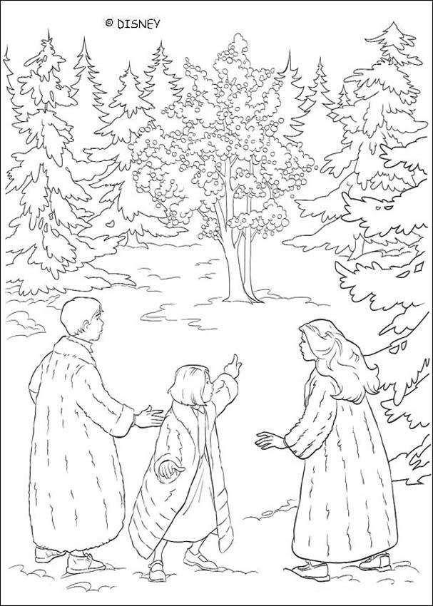 Narnia magical forest coloring pages - Hellokids.com