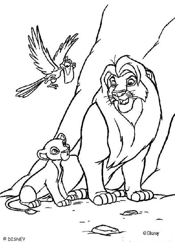 lion king zazu coloring pages - photo#18