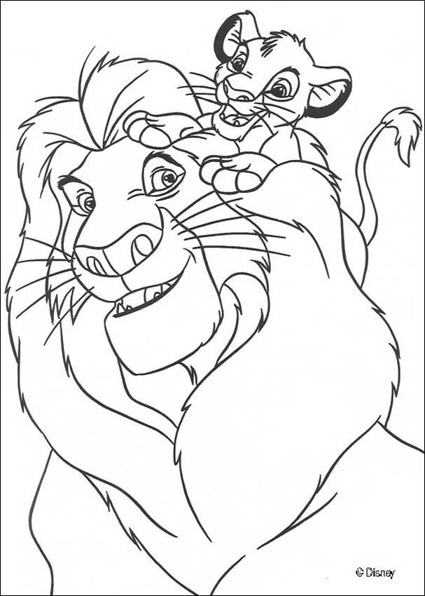 free printable lion king coloring pages - the lion king coloring pages simba with mufasa