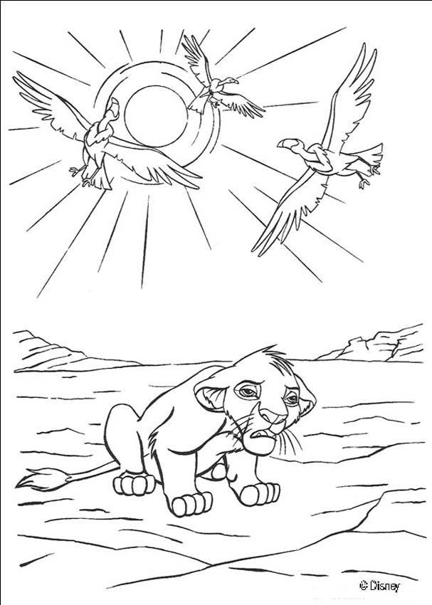 Simba Needs Help coloring page