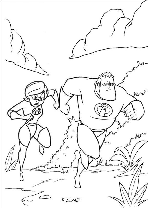 The incredibles 12 coloring pages for Disney incredibles coloring pages