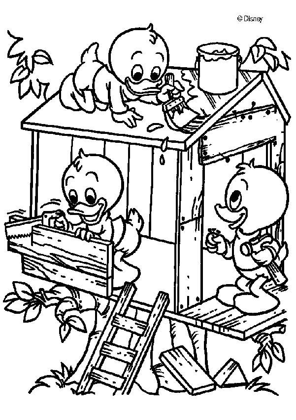 Donald duck's nephews coloring page