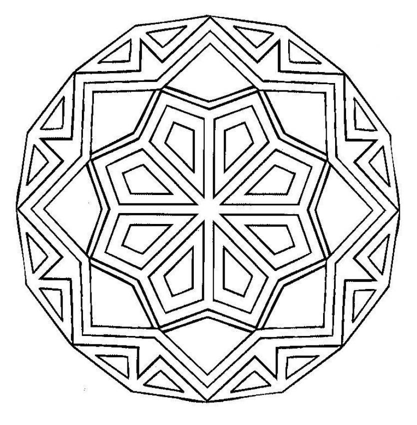 Mandalas for beginners mandala 12 for Mandala coloring pages for beginners