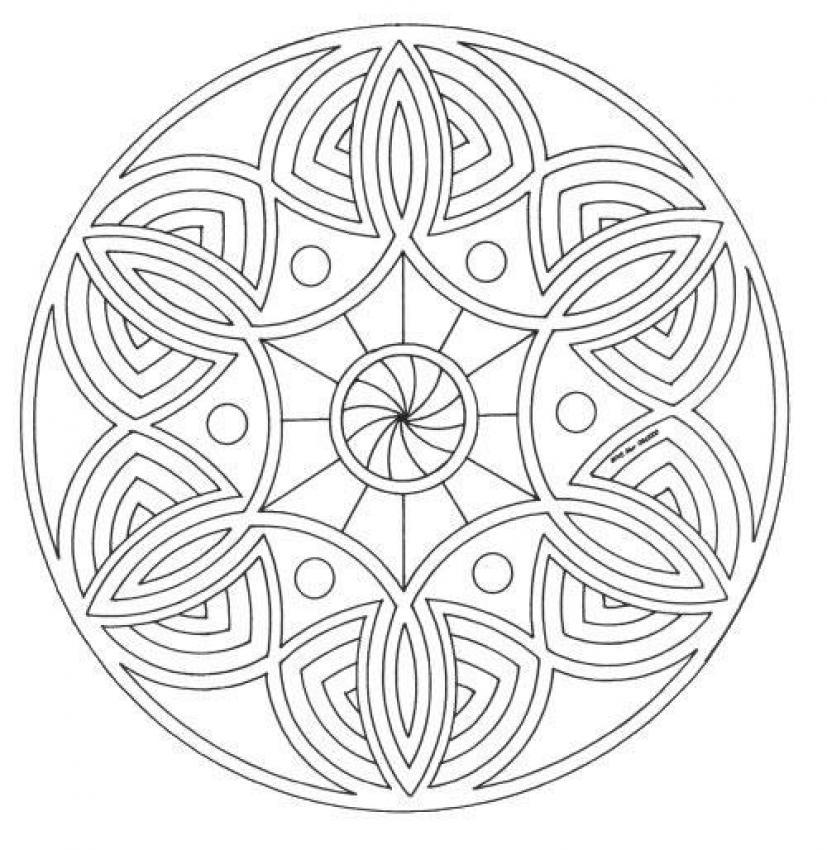 Mandala Coloring Pages Advanced : Mandalas for advanced mandala