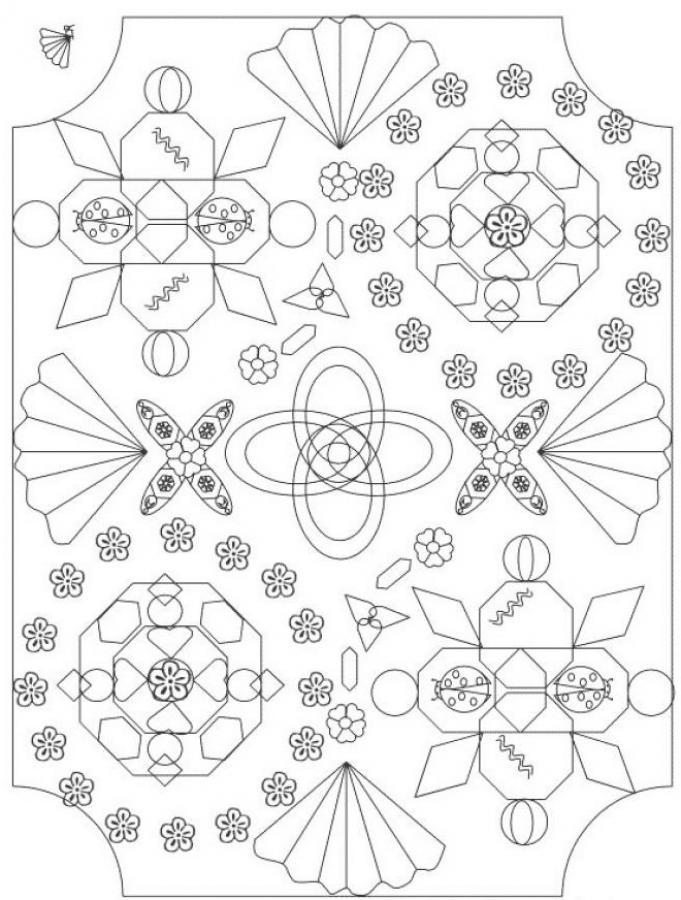 Mandala 2 Coloring Pages Hellokids Com