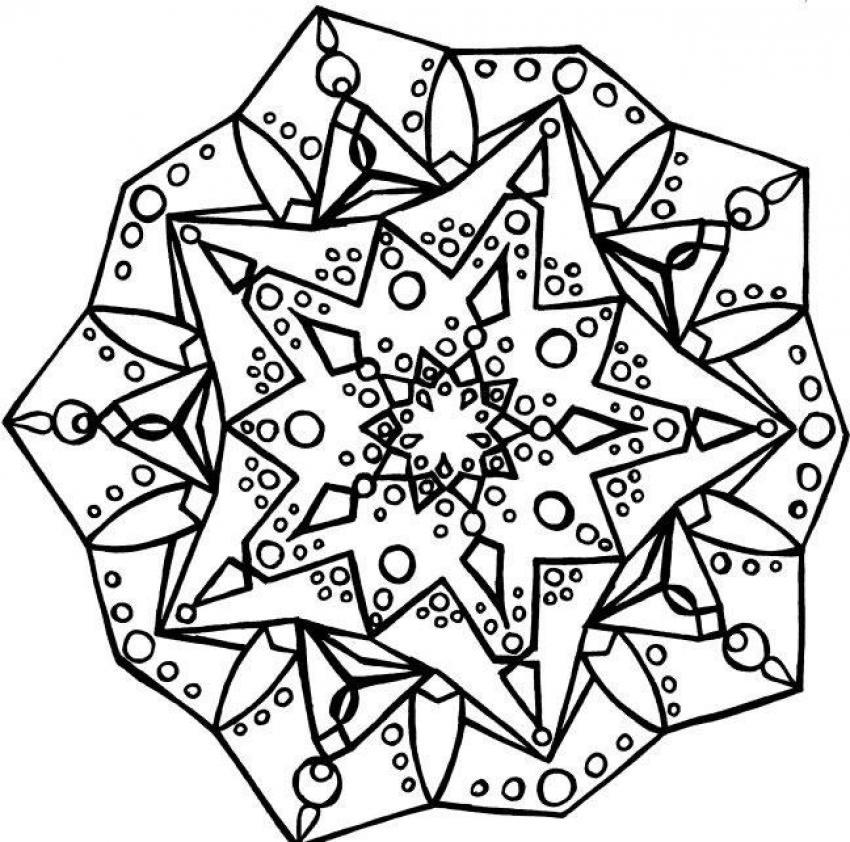 Mandala E worksheet