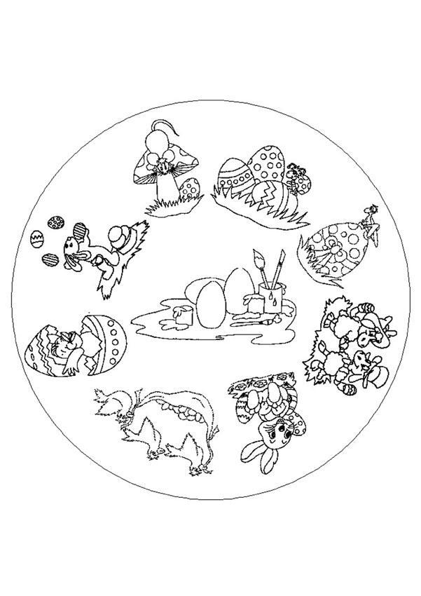 Easter Fun Mandala worksheet