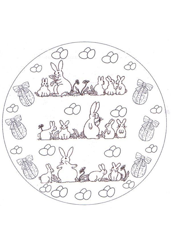 Easter Bunny Mandala worksheet