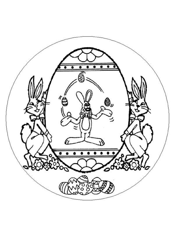 Mandalas for beginners easter rabbit mandala for Mandala coloring pages for beginners
