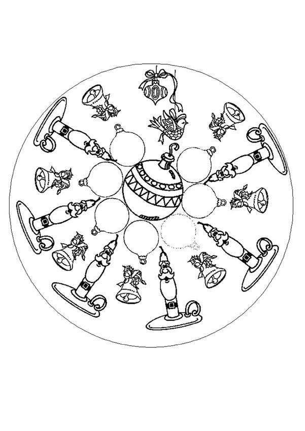 Mandala pp coloring pages - Mandalas noel ...