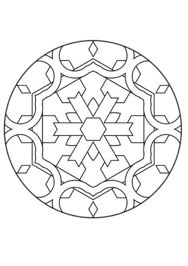 Mandalas for beginners mandala 126 for Mandala coloring pages for beginners