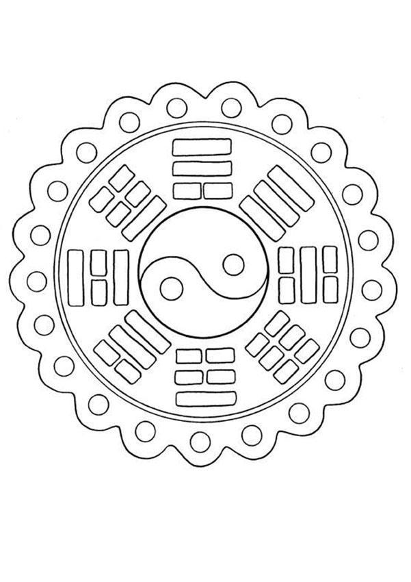 Mandala 132 worksheet