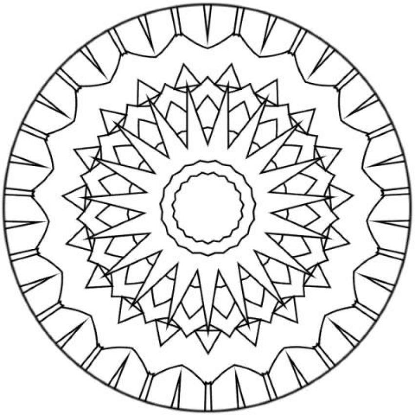 mandala coloring pages for beginners - mandalas for beginners mandala 134