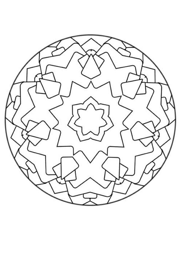 Mandala 136 worksheet