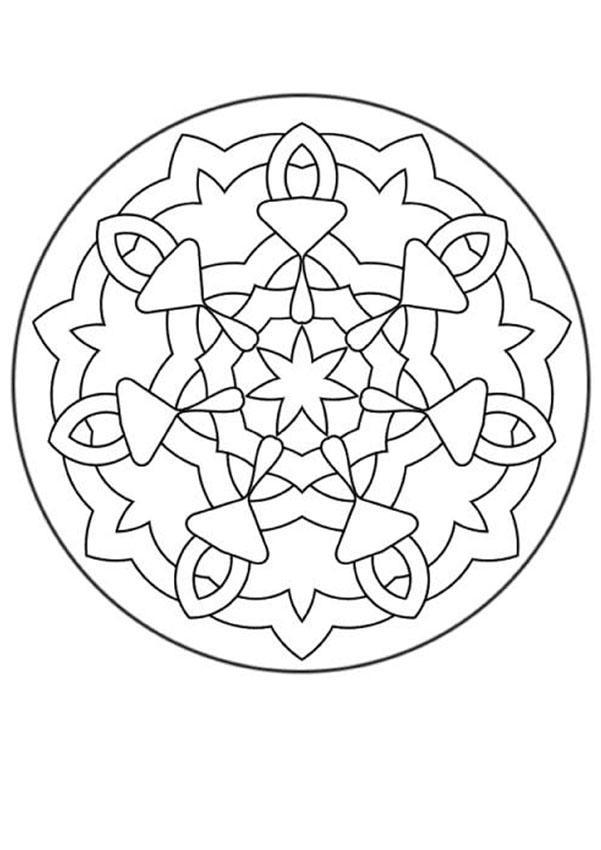 Mandalas for beginners mandala 140 for Mandala coloring pages for beginners