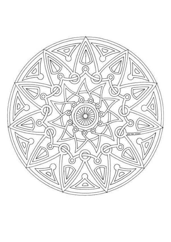 mandala 143 coloring page mandala coloring pages mandalas for experts - Coloring Pages Mandalas Printable