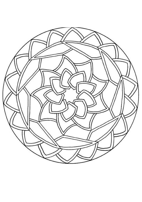 mandala coloring pages for beginners mandalas for beginners round mandala
