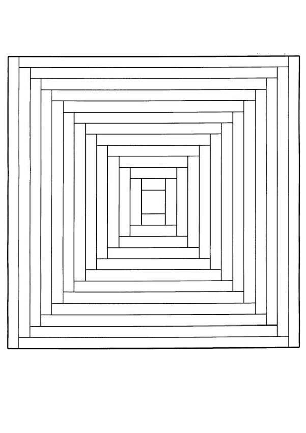Labyrinth Mandala worksheet