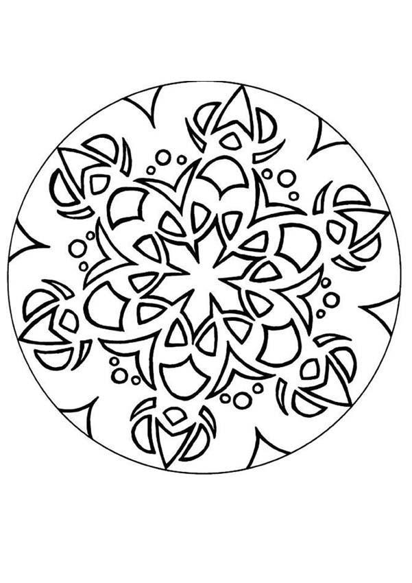 Oriental mandala coloring pages - Hellokids.com