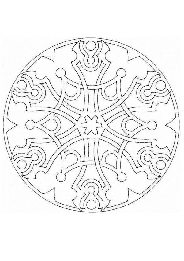 Mandala O worksheet